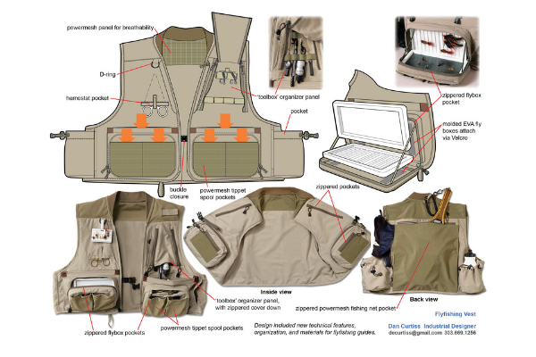 How do you organize a fishing vest