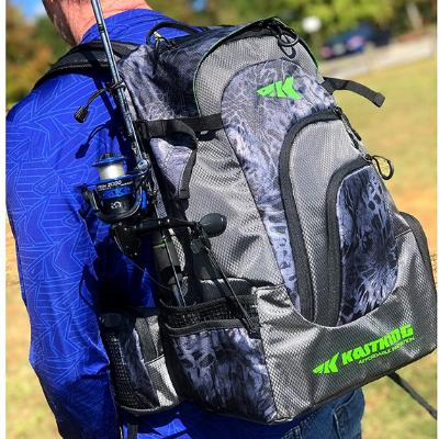 KastKing fishing backpack with rod hoder